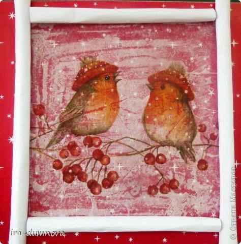 Птички на рябинке. Выполнила Карина Ф. фото 1