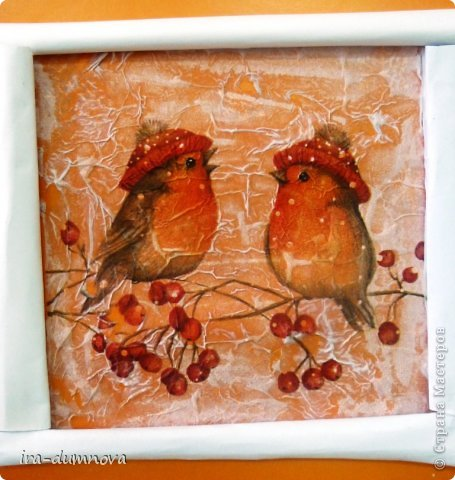 Птички на рябинке. Выполнила Карина Ф. фото 5