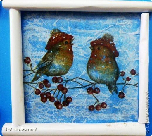 Птички на рябинке. Выполнила Карина Ф. фото 6