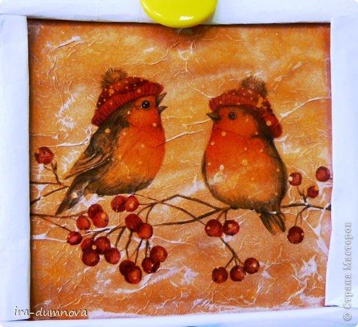 Птички на рябинке. Выполнила Карина Ф. фото 8