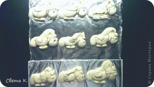Мастер-класс Новый год Лепка Лошадки-магниты МК по лепке Тесто соленое фото 2
