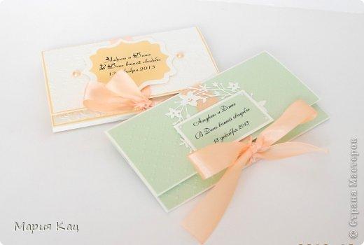 Свадебный конвертик и конверт-раскладушка с местом для фото. дарятся на свадьбу одним молодоженам, от разных членов семьи. фото 1
