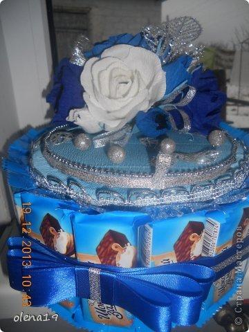Новый тортик! И вновь в синем цвете! Почему-то другого не заказывают!? фото 3