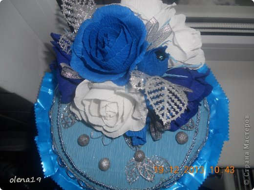 Новый тортик! И вновь в синем цвете! Почему-то другого не заказывают!? фото 1