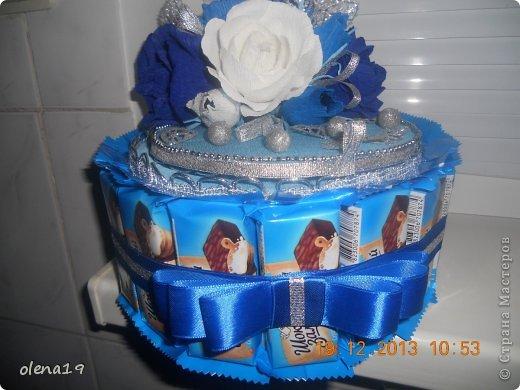 Новый тортик! И вновь в синем цвете! Почему-то другого не заказывают!? фото 2