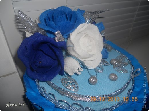 Новый тортик! И вновь в синем цвете! Почему-то другого не заказывают!? фото 4