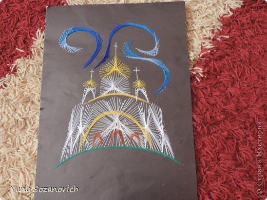 Картина панно рисунок Изонить