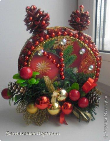 Привет Страна!!!У меня тоже Новый год)))Наконец-то....Долго я смотрела на работы девочек-будильнички-облизывалась и вот решилась.Нашла очень понятный МК.Вот ссылка    http://www.liveinternet.ru/users/natali_tiraspolskaya/post300858378 фото 2