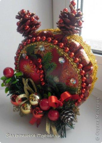 Привет Страна!!!У меня тоже Новый год)))Наконец-то....Долго я смотрела на работы девочек-будильнички-облизывалась и вот решилась.Нашла очень понятный МК.Вот ссылка    http://www.liveinternet.ru/users/natali_tiraspolskaya/post300858378 фото 3