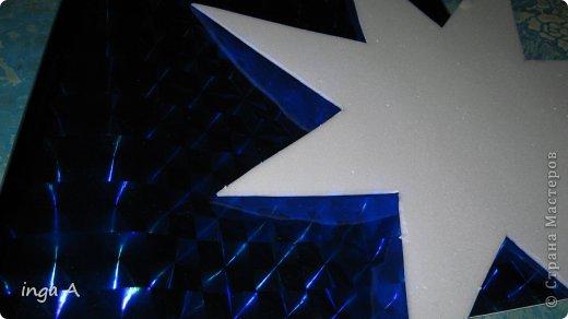 Мастер-класс Поделка изделие Новый год Моделирование конструирование Быстрое эффектное яркое украшение для Нового года Пенопласт фото 4