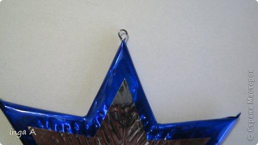 Мастер-класс Поделка изделие Новый год Моделирование конструирование Быстрое эффектное яркое украшение для Нового года Пенопласт фото 21