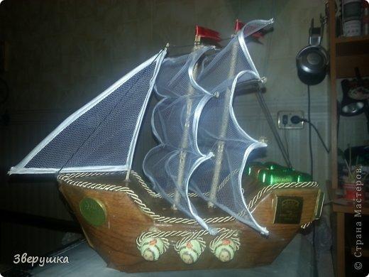 """конфетные поделки """"Кораблики"""" фото 1"""