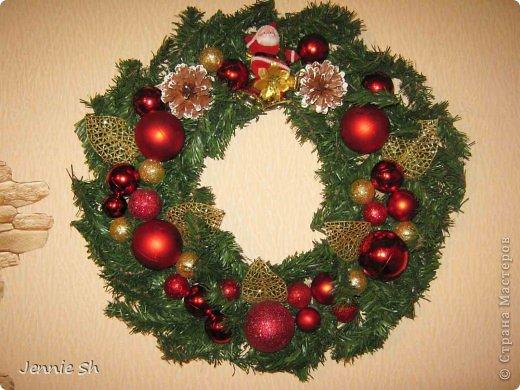 Декор предметов Мастер-класс Новый год Рождественские венки+МК фото 1