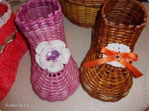 Мастер-класс Поделка изделие Плетение МК башмачок Бумага газетная Трубочки бумажные фото 24