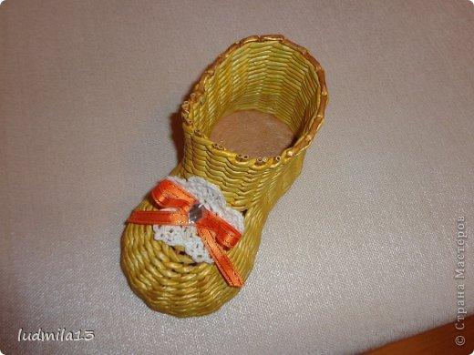 Мастер-класс Поделка изделие Плетение МК башмачок Бумага газетная Трубочки бумажные фото 22