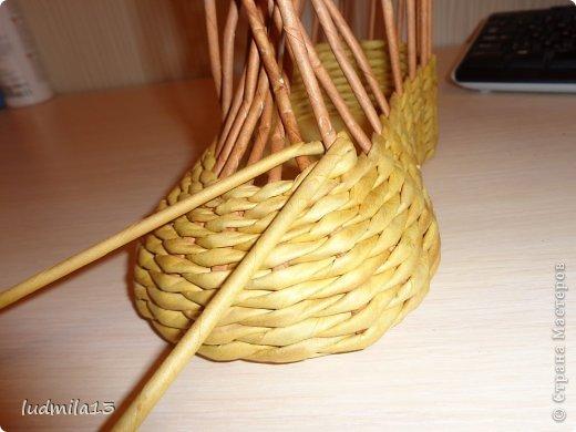 Мастер-класс Поделка изделие Плетение МК башмачок Бумага газетная Трубочки бумажные фото 13