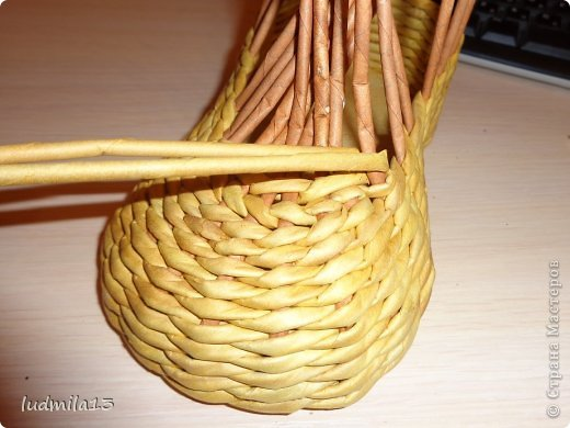 Мастер-класс Поделка изделие Плетение МК башмачок Бумага газетная Трубочки бумажные фото 15