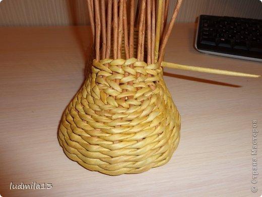 Мастер-класс Поделка изделие Плетение МК башмачок Бумага газетная Трубочки бумажные фото 16