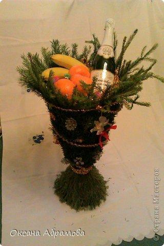 Мастер-класс Поделка изделие Новый год Моделирование конструирование БОКАЛ-СЮРПРИЗ из живых веток ели  фото 17