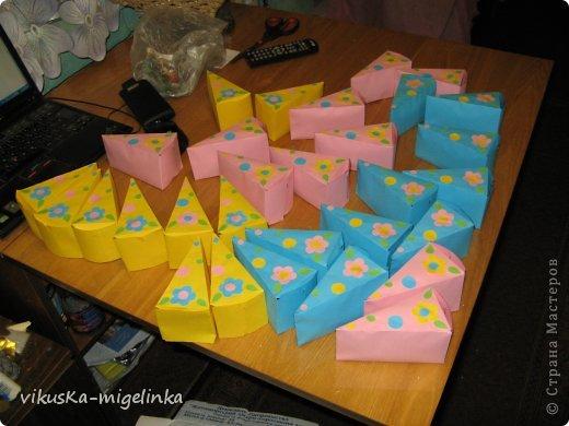 Идея найдена на просторах интернета, в СМ тоже очень много таких тортиков, а этот тортик для 30-ти деток в саду. Ну очень не хотелось нести угощенья в сад на день рождения дочки в пакете, как обычно делают все)))) фото 2