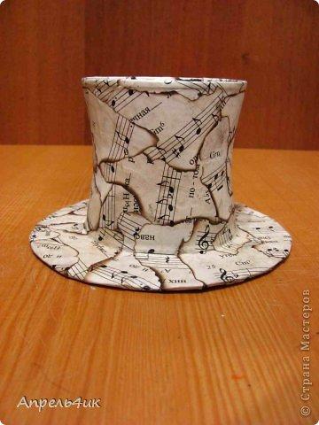 Мастер-класс Поделка изделие Новый год Моделирование конструирование Новогодние подсвечники-шляпки Гипс Гуашь Картон Клей фото 10