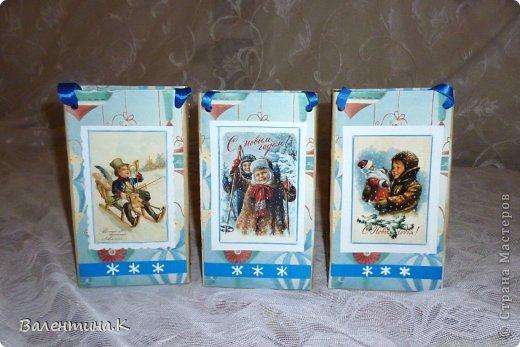Добрый вечер. На доп.занятиях у моей дочки тоже будет НГ-утренник. Дети будут выполнять задания, участвовать в викторинах и т.д. За все это они будут получать конфеты, которые в итоге и станут их подарком. А конфеты надо куда-то складывать. И я, подсмотрев у Саблезубки тут: http://stranamasterov.ru/node/663204#comment-9213868, сделала пакетики из .... пакетов из-под молока. Аж 13 штук )) фото 5