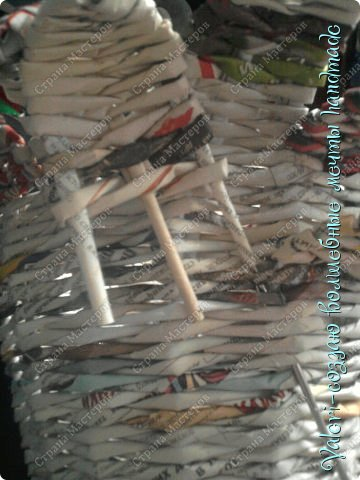 Мастер-класс Поделка изделие Новый год Плетение Ёлочка из газетных трубочек МК Бумага газетная Бусинки Бутылки пластиковые Гипс Клей Кружево Ленты Салфетки Трубочки бумажные фото 38