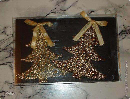 Декор предметов Мастер-класс Новый год Аппликация Моделирование конструирование Упаковка новогоднего подарка+МК Бумага Фетр Шишки фото 6