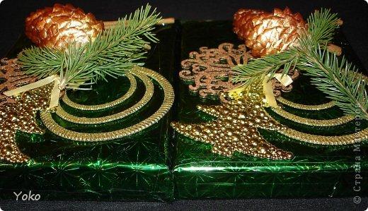 Декор предметов Мастер-класс Новый год Аппликация Моделирование конструирование Упаковка новогоднего подарка+МК Бумага Фетр Шишки фото 14