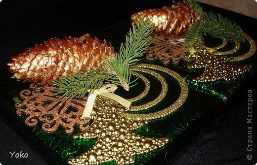 Декор предметов Мастер-класс Новый год Аппликация Моделирование конструирование Упаковка новогоднего подарка+МК Бумага Фетр Шишки фото 15