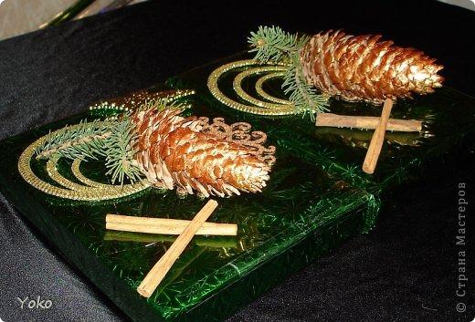 Декор предметов Мастер-класс Новый год Аппликация Моделирование конструирование Упаковка новогоднего подарка+МК Бумага Фетр Шишки фото 18