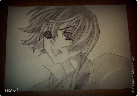 рисунки простым карандашом аниме: