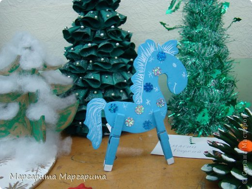 Мастер-класс Новый год Выпиливание Новогодняя лошадка Фанера фото 1