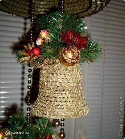 Декор предметов Мастер-класс Украшение Новый год Плетение Колокольчик новогодний Материал природный фото 1