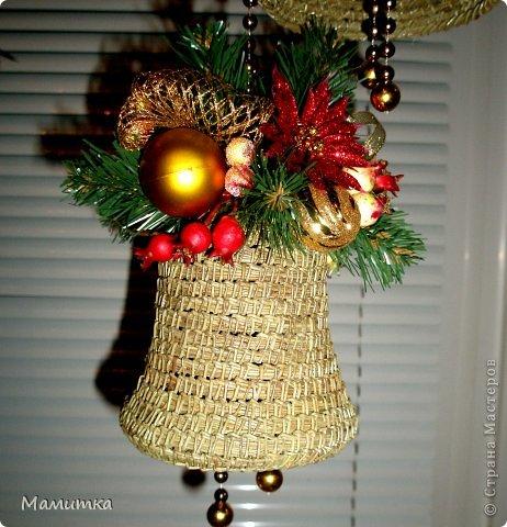 Декор предметов Мастер-класс Украшение Новый год Плетение Колокольчик новогодний Материал природный фото 13