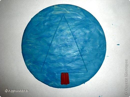 Картина панно рисунок Мастер-класс Новый год Аппликация из пластилина + обратная Лепка Ёлочка 2 варианта Пластилин фото 3