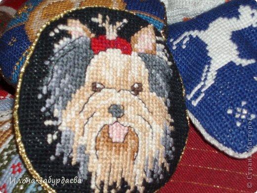 Забавный щенок - Схемы вышивки