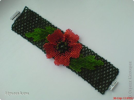 Колье и цветок для шпильки на волосы фото 2