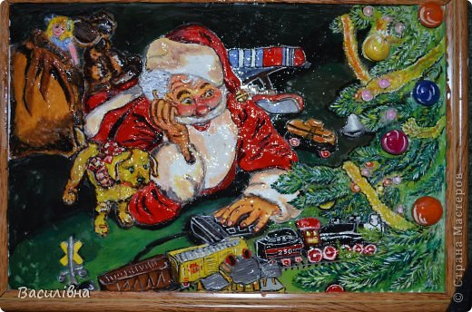 Мастер-класс Новый год Лепка Дедушка Мороз в душе ребенок Тесто соленое фото 1