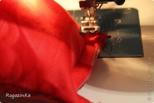 Интерьер Мастер-класс Шитьё Подушка - Роза МК по изготовлению Нитки Ткань фото 8