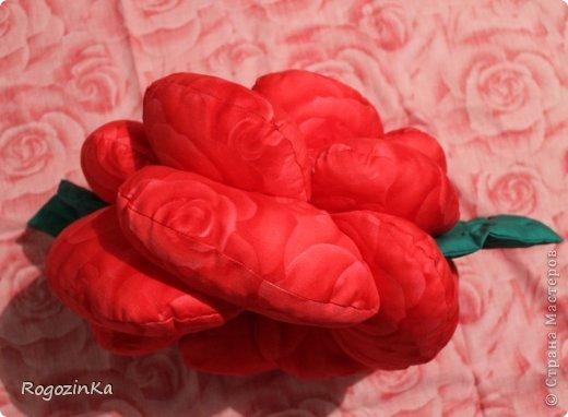 Интерьер Мастер-класс Шитьё Подушка - Роза МК по изготовлению Нитки Ткань фото 16