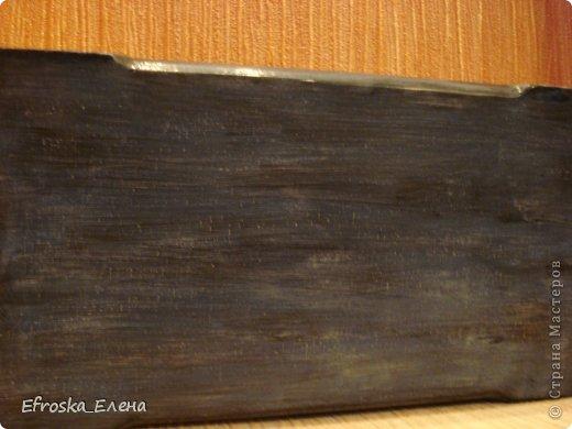 """Приветствую всех заглянувших в гости!  Сотворилась у меня купюрница. Все как обычно: деревянная заготовка,  грунт, распечатка, набрызги, попробовала покрасить бока и внутренности методом лессировки, но это больше похоже на покраску """"методом тыка"""". Ну и много слоев лака. фото 11"""
