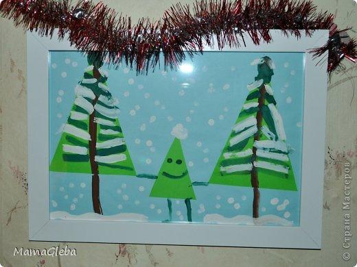"""Всем привет! Давно не заглядывала, но вот нашлась минутка, размещаю рисунки моего сыночка на зимнюю тему. Мы использовали разные техники, посмотрите.  """"Зима в городе"""" - 3 года,11 месяцев фото 2"""