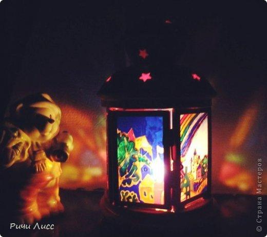Декор предметов Мастер-класс Витраж Фонарь-подсвечник с витражной росписью Королевство Краска Металл Стекло