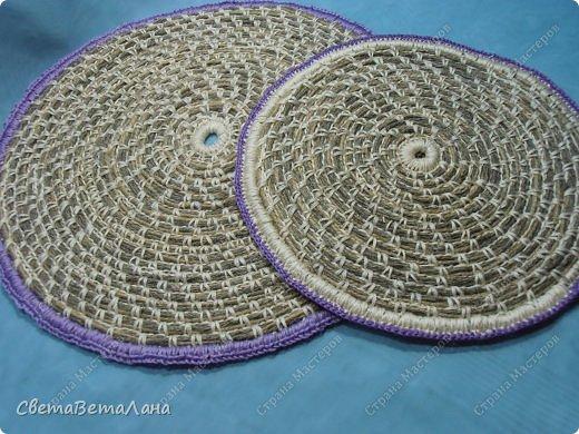Мастер-класс Поделка изделие Плетение Салфетки из шпагата   Нитки Шпагат фото 1