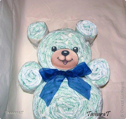 Медведь из памперсов своими руками 65