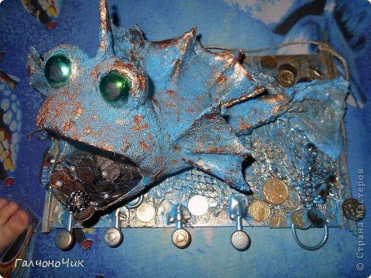 Мастер-класс Поделка изделие Моделирование конструирование Ключница Голубая Рыбка Гипс Материал бросовый Носки Салфетки Шарики воздушные фото 1