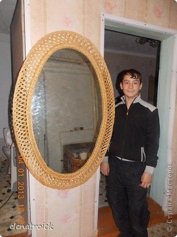 ажурно-овальное зеркало размером 120см на 60 см фото 3