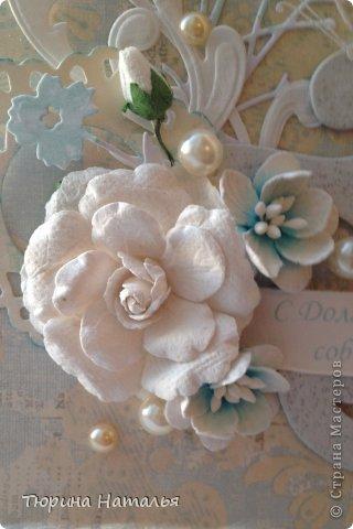 Эта открытка была подарена на девичнике перед свадьбой! Не знаю, мне кажется  открытка удалась, нежности и любви в ней хватает! фото 2