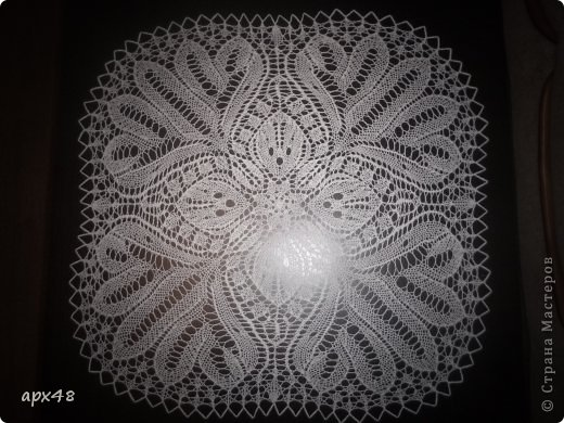 Интерьер Вязание спицами Салфетка Ада Пряжа фото 1